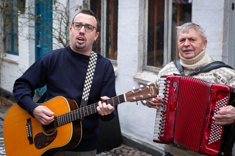 Baggårdsmusikanterne Jacob og Anders